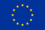 Eu flag logo blue and yellow